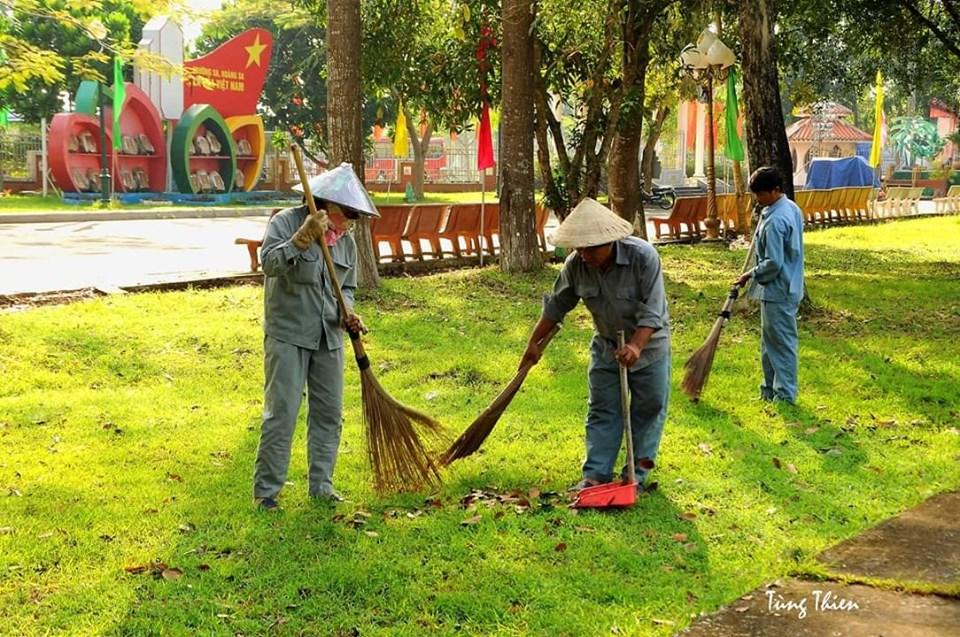 Công tác chuẩn bị phục vụ khách tham quan trong dịp lễ 2/9 tại Khu Di tích Nguyễn Sinh Sắc
