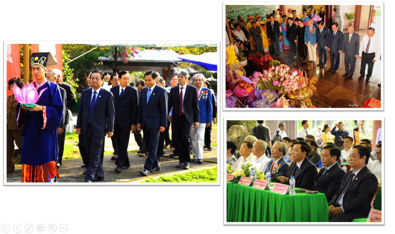 Chùm ảnh các hoạt động tại lễ giỗ lần thứ 89 của cụ Phó bảng Nguyễn Sinh Sắc vừa qua