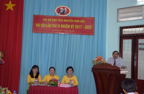 Đại hội Đảng viên chi bộ Khu di tích Nguyễn Sinh Sắclần thứ IV, nhiệm kỳ 2017 – 2020